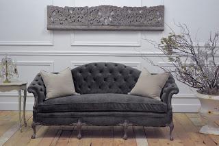 Grey Mohair Velvet Upholstery