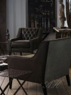 Brown faux leather chair from April Hamilton