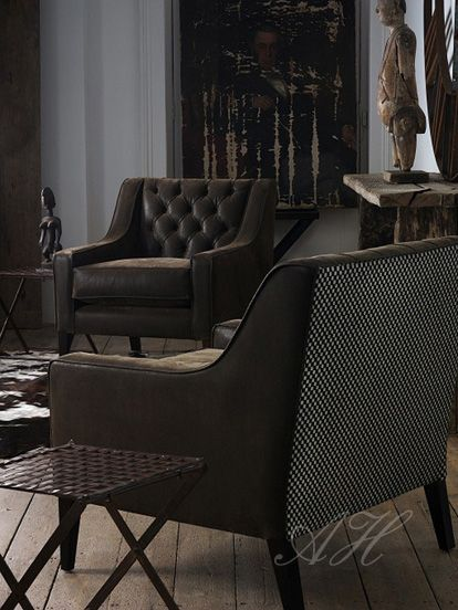 Black faux leather chair from April Hamilton