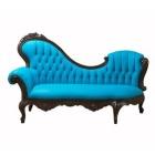 Blue Velvet Chaise