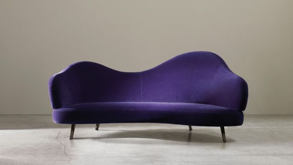 Adele Casina Purple Velvet Chaise