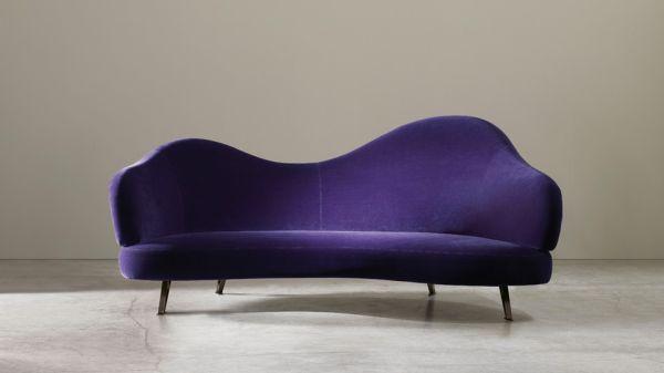 Adele Casina Purple Velvet Chaise