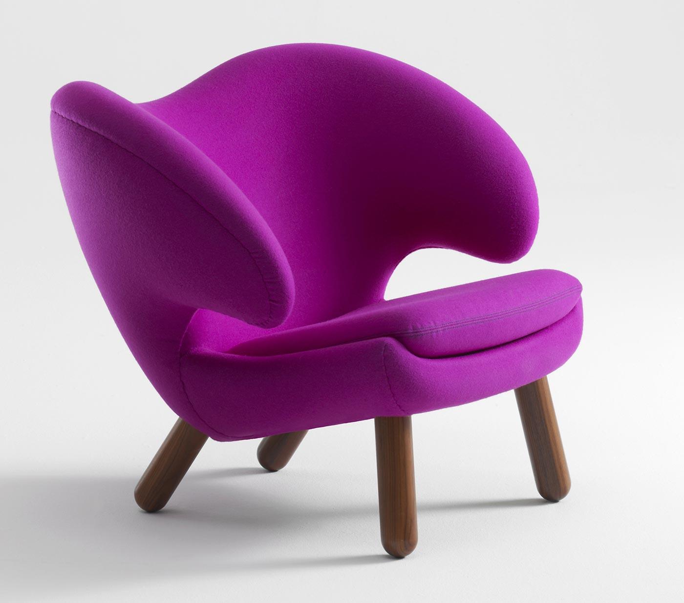 Bon Modern Purple Upholstered Chair