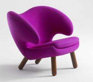 Modern purple upholstered chair