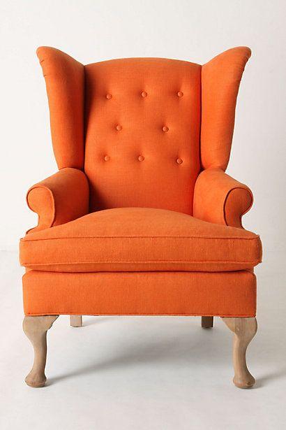 Orange Linen Upholstery