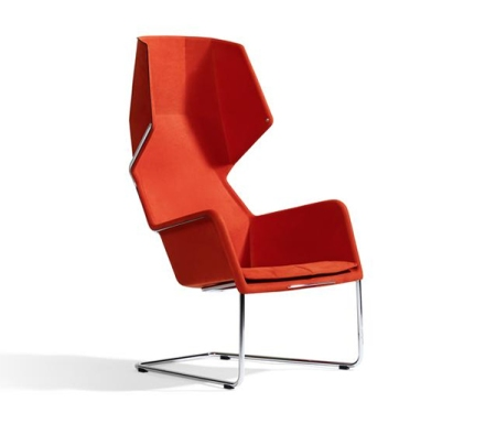 Red faux leather might look good on this chair