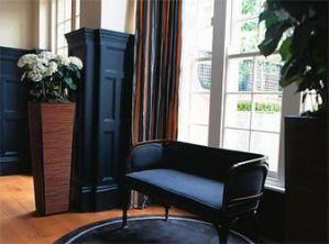 Blue velvet upholstery