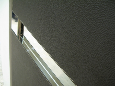 Grey Faux Leather Wardrobes Walling Paolo Marchetti Interiors