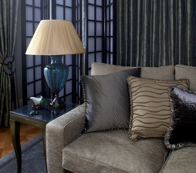 Textured Upholstery Fabric On Sofa