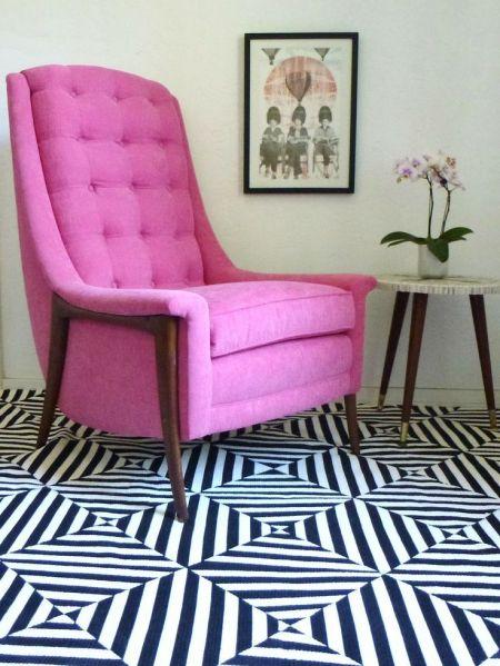 Pink Velvet Upholstery