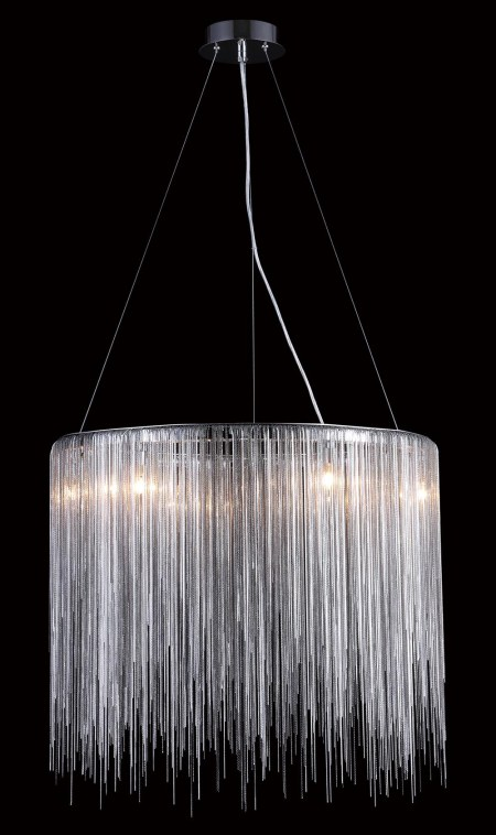 Oval Silver Chandelier - Avenue