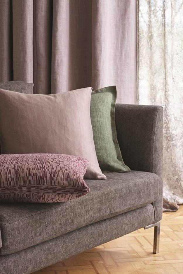 Mohair, Cotton and Silk Velvet Textured Upholstery Patterned
