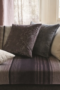 Mohair, Cotton and Silk Velvet Textured Upholstery Patterned